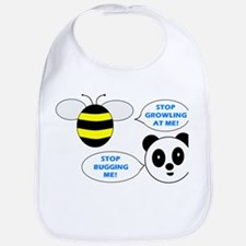 Bee & Panda Attitude/Humor Bib