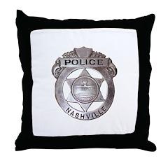 Nashville Police Throw Pillow