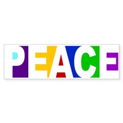 Peace Without Borders Bumper Bumper Sticker
