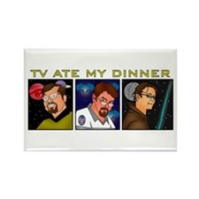 TV Ate My Dinner Rectangle Magnet