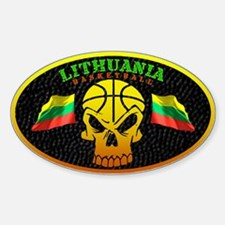 Lithuania Basketball Oval Decal