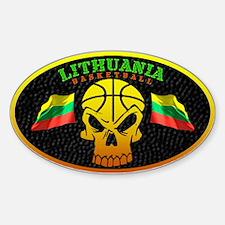 Lithuania Basketball Oval Decal