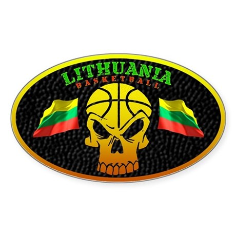 Lithuania Basketball Oval Sticker