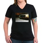 Nightpenguins is back! Women's V-Neck Dark T-Shirt