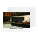 Nightpenguins is back! Greeting Cards (Pk of 10)