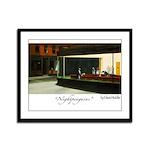 Nightpenguins is back! Framed Panel Print