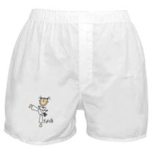 Stick Figure Karate Boxer Shorts