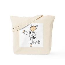 Stick Figure Karate Tote Bag