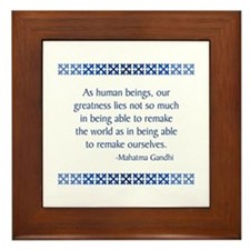 Gandhi Framed Tile