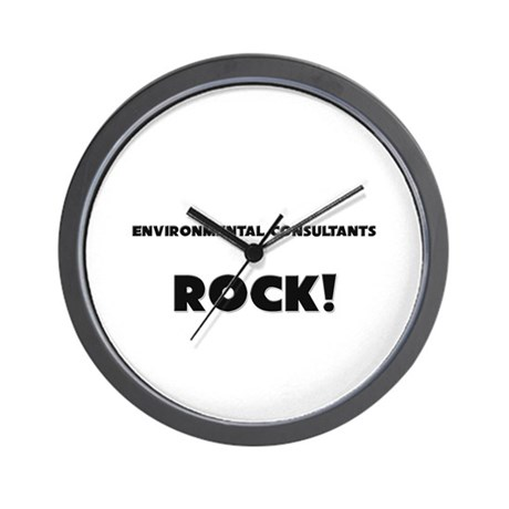 Environmental Consultants ROCK Wall Clock