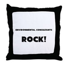 Environmental Consultants ROCK Throw Pillow