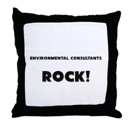 Environmental Consultants ROCK Throw Pillow