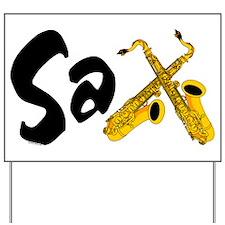 Sax Yard Sign