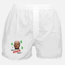 BIDEN HIDIN' Boxer Shorts