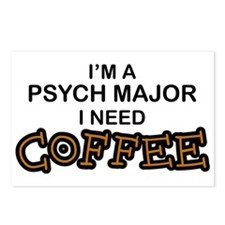 Psych Major Need Coffee Postcards (Package of 8)