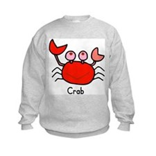 Crab Flashcard Sweatshirt