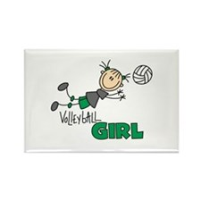 Volleyball Girl Rectangle Magnet