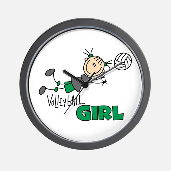 Volleyball Girl Wall Clock