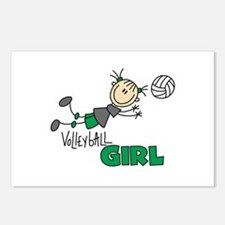 Volleyball Girl Postcards (Package of 8)