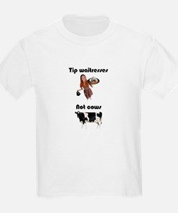Tip Waitresses Kids T-Shirt