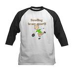 Stick Figure Bowling Kids Baseball Jersey