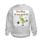 Stick Figure Bowling Kids Sweatshirt