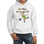 Stick Figure Bowling Hooded Sweatshirt