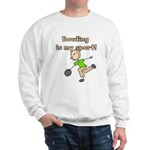 Stick Figure Bowling Sweatshirt
