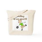 Stick Figure Bowling Tote Bag