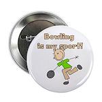 "Stick Figure Bowling 2.25"" Button"