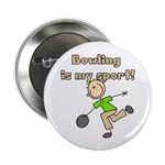 "Stick Figure Bowling 2.25"" Button (10 pack)"