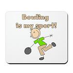 Stick Figure Bowling Mousepad