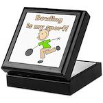Stick Figure Bowling Keepsake Box