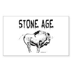 STONE AGE Rectangle Sticker 10 pk)