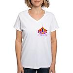 Patchwork Big Top Women's V-Neck T-Shirt
