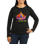 Patchwork Big Top Women's Long Sleeve Dark T-Shirt