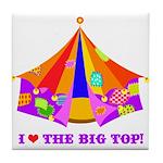 Patchwork Big Top Tile Coaster