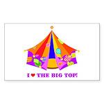 Patchwork Big Top Rectangle Sticker 10 pk)