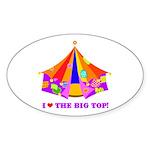Patchwork Big Top Oval Sticker (50 pk)