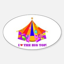 Patchwork Big Top Oval Decal