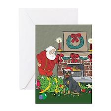 Santa's Helper Rottweiler Greeting Card