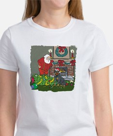 Santa's Helper Rottweiler Women's T-Shirt