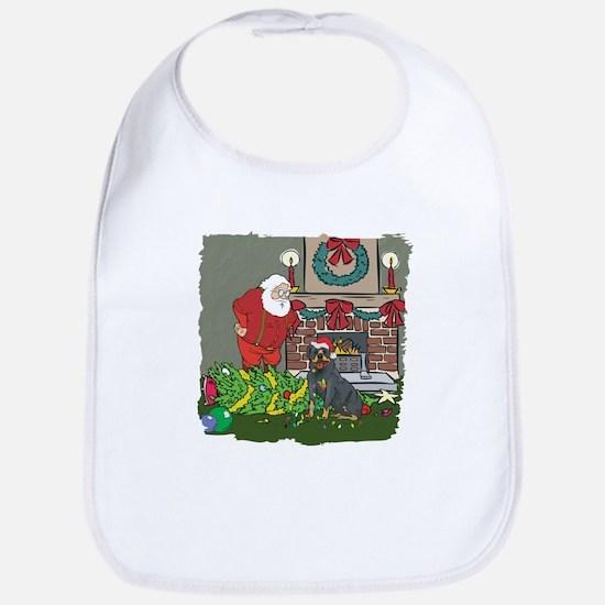 Santa's Helper Rottweiler Bib
