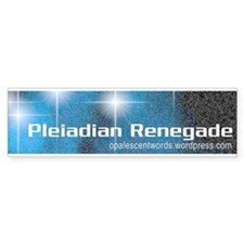 Pleiadian Renegade bumper sticker