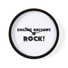 Engine Drivers ROCK Wall Clock