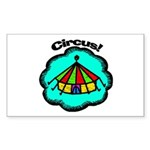 Circus Tent Rectangle Sticker