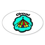 Circus Tent Oval Sticker