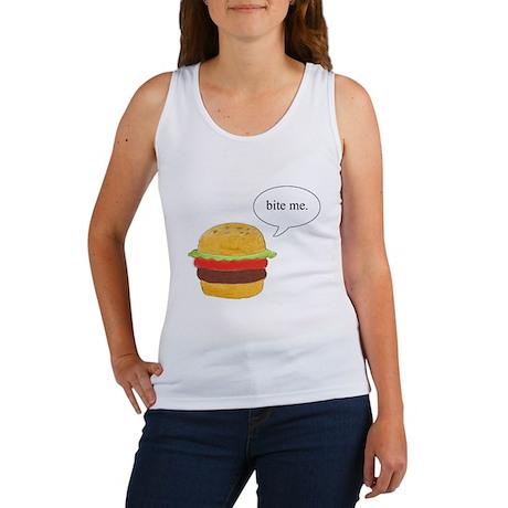 Bite Me Burger Women's Tank Top