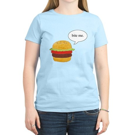 Bite Me Burger Women's Light T-Shirt