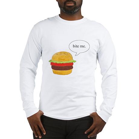 Bite Me Burger Long Sleeve T-Shirt